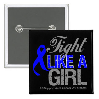 Anal Cancer Ribbon - Fight Like a Girl Pin