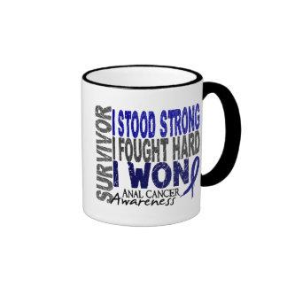 Anal Cancer Survivor 4 Ringer Coffee Mug