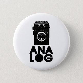 Analog! 6 Cm Round Badge