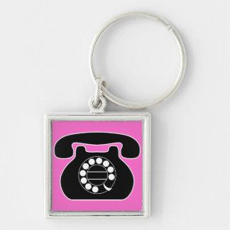 analog phone keychains