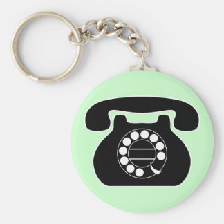 analog phone key chains