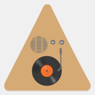 Analog record player triangle sticker