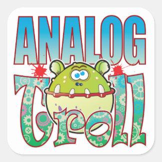 Analog Troll Square Sticker