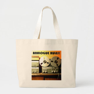 Analogue Rules Jumbo Tote Bag