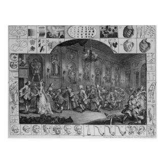 Analysis of Beauty, Plate II, 1753 Postcard