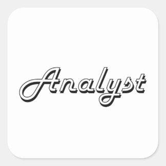 Analyst Classic Job Design Square Sticker