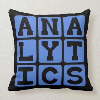 Analytics, Meaningful Patterns in Data Pillows