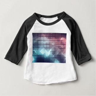 Analytics Technology with Data Moving Baby T-Shirt