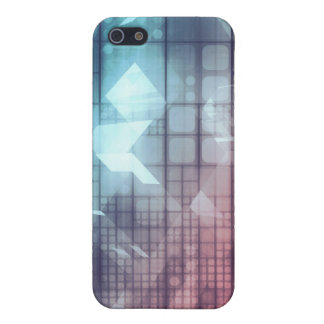 Analytics Technology with Data Moving iPhone 5 Cases
