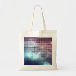 Analytics Technology with Data Moving Tote Bag