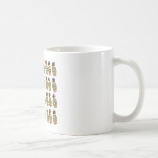 Ananases on white Design Ethno Coffee Mug