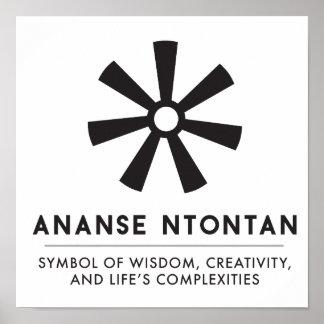 ANANSE NTONTAN   Symbol of Wisdom, Creativity Poster
