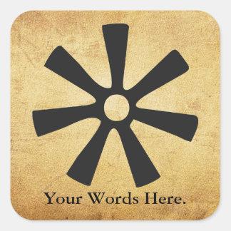 ANANSE NTONTAN | Symbol of Wisdom, Creativity Square Sticker