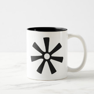 ANANSE NTONTAN | Symbol of Wisdom, Creativity Two-Tone Coffee Mug