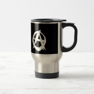 Anarchist and freedom stainless steel travel mug