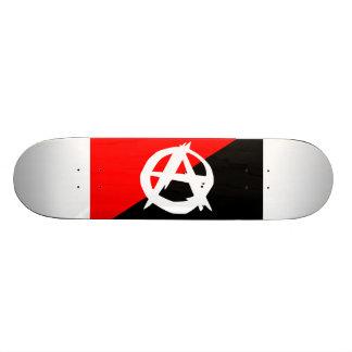 Anarchist Black White and Red Flag Skateboard
