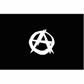 Anarchist, Colombia Political flag Standing Photo Sculpture
