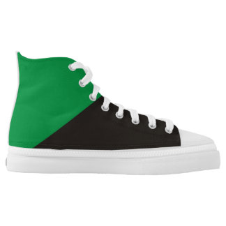 anarchist green flag ecology anarchy symbol printed shoes
