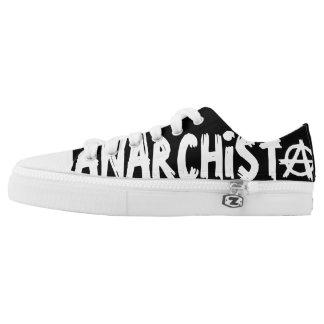 Anarchist Punk Printed Shoes