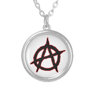 Anarchist Silver Plated Necklace