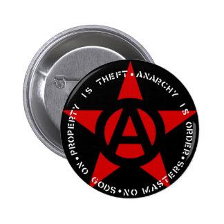 Anarchist Star 6 Cm Round Badge