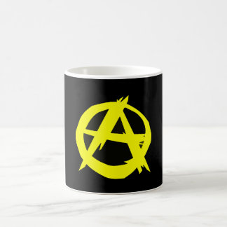 Anarcho Capitalism Black and Yellow Flag Coffee Mug