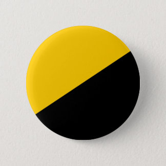 Anarcho Capitalist Black and Yellow 6 Cm Round Badge