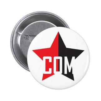 Anarcho-Communist Star 6 Cm Round Badge