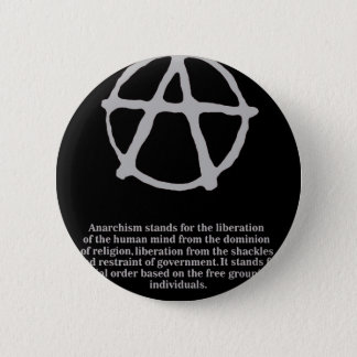 anarchy. 6 cm round badge