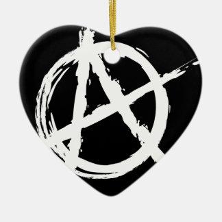 Anarchy Ceramic Heart Decoration