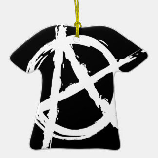 Anarchy Double-Sided T-Shirt Ceramic Christmas Ornament