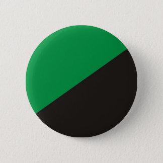 anarchy eco flag green black ecology bio 6 cm round badge