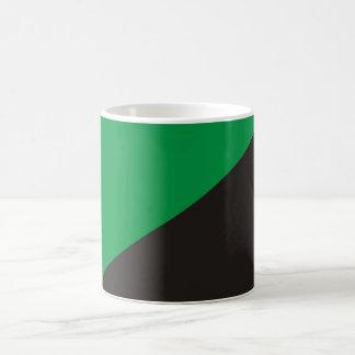 anarchy eco flag green black ecology bio basic white mug