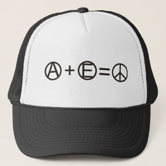 Anarchy + Equality = Peace Trucker Hat