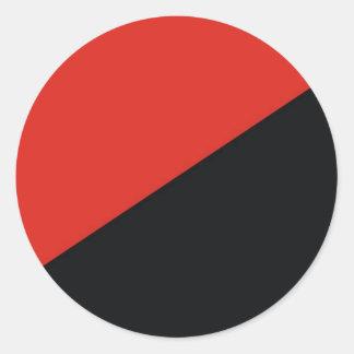 anarchy flag red black classic round sticker