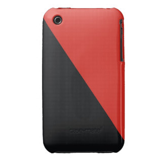 anarchy flag red black iPhone 3 case