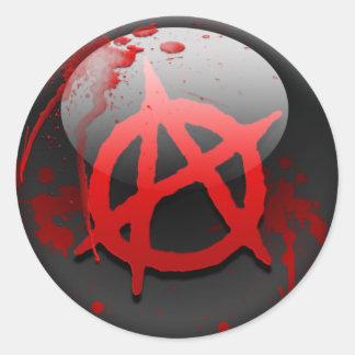 Anarchy Flag Round Sticker