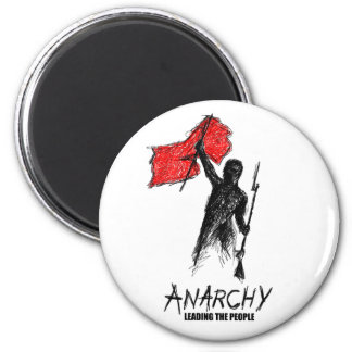 Anarchy Leading the People 6 Cm Round Magnet