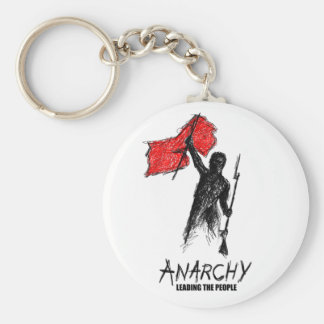 Anarchy Leading the People Basic Round Button Key Ring