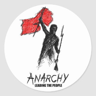 Anarchy Leading the People Round Sticker