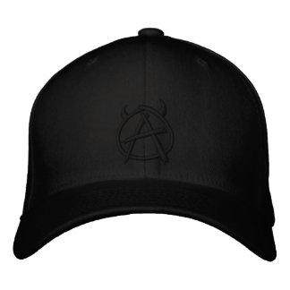 Anarchy Logo Black on Black Embroidered Hat