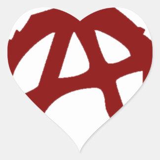 Anarchy - ONE:Print Heart Sticker