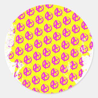 Anarchy Pattern Classic Round Sticker