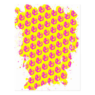 Anarchy Pattern Postcard