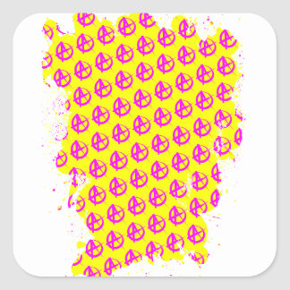 Anarchy Pattern Square Sticker