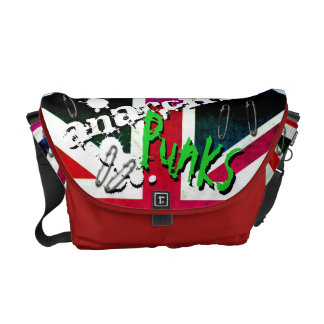 Anarchy Punks Not Dead Grunge Union Jack Courier Bags