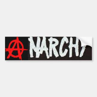 Anarchy Red, Black and White Bummper Sticker. Bumper Sticker