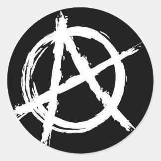 Anarchy Round Sticker
