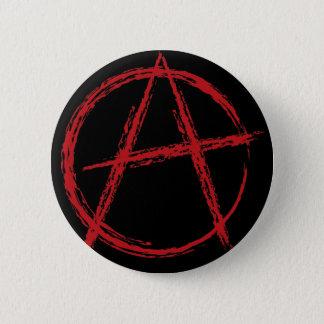 Anarchy sign 6 cm round badge