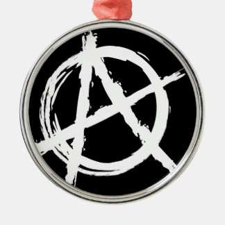 Anarchy Silver-Colored Round Decoration